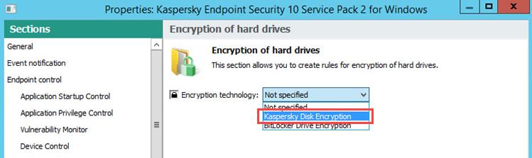 Resim: Bir şifreleme teknolojisi seçin.